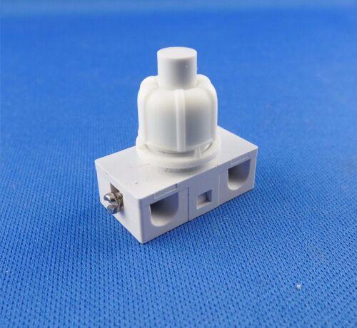 Einbau Druckschalter Weiß für Lampen 250V 2A
