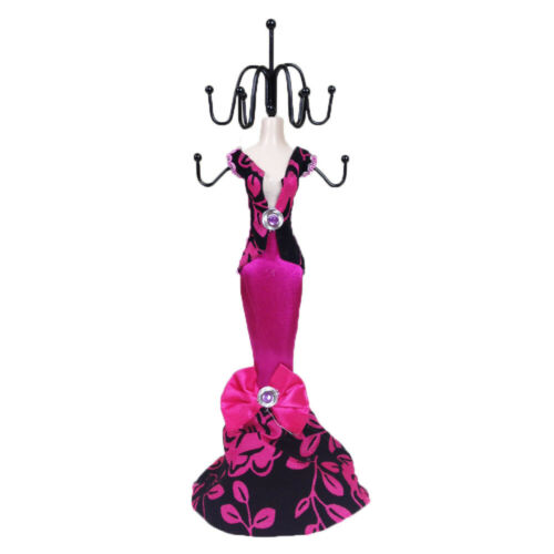 2pc H-pink Flower  Display Holder Mannequin Elegant Dress Jewelry and Shoe M162