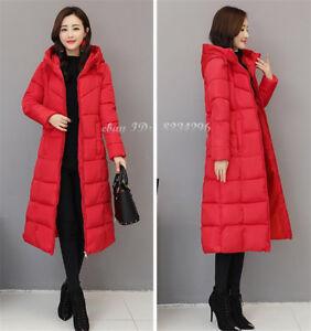Winter-Damenmode-Kapuzemantel-Lange-Coat-Daunen-Baumwolle-Mantel-Jacke-Plus-Size