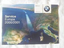 BMW Europa Service Euro Book Manual Warranty OEM E24 E28 E30 E39 E46 E53 E60 E63