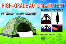TurnerMAX Outdoor Army Guerrilla 4 Person AUTO Camping Hiking Fishing New Tent