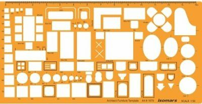 Architectural and Contractors Template Architect Combination Stencil Symbols Technical Drafting And Drawing Scale 1:100