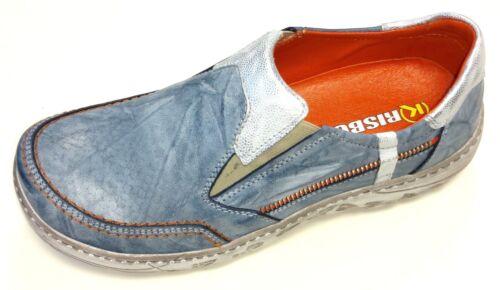 Krisbut Polen Damen Schuhe Halbschuh Slipper Sneaker 2287-1-1 Leder blau