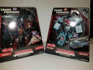 Transformers Titanium Series Die-Cast Lot Of 2, Thrust & Hot Zone