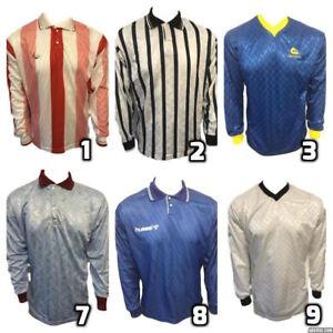 804f2b36e Image is loading Retro-Vintage-Football-Footy-Shirts-Tops-Sleeve-Soccer-