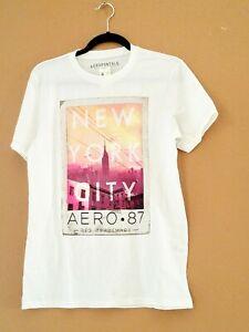 Aeropostale-Mens-T-Shirt-Graphic-Short-Sleeve-Size-S-P