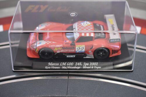 88037 FLY CAR MODELS 1//32 MARCOS LM 600 24H SPA 2002 A362