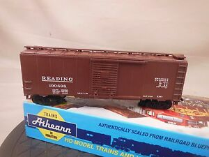 HO-SCALE-ATHEARN-BLUE-BOX-KIT-BUILT-40-039-BOX-CAR-READING-3-6
