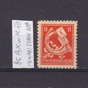 GERMANY-1945-Soviet-zone-Mi-96AXw-plate-VIII-CV-16-signed-MNH