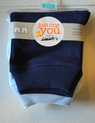 Just One You Carters  2 Pack Pants Blues Size Newborn  or 3 Months or 6M  NWT