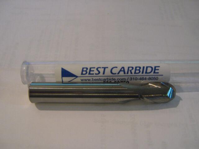 """BEST CARBIDE 1//8/""""-2 FLUTE UNIV APPL BALL NOSE 30deg HELX END MILL /""""NEW/"""" LOT of 2"""