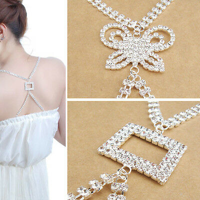 rhinestone crystal square butterfly adjustable bra back straps diamante bridal