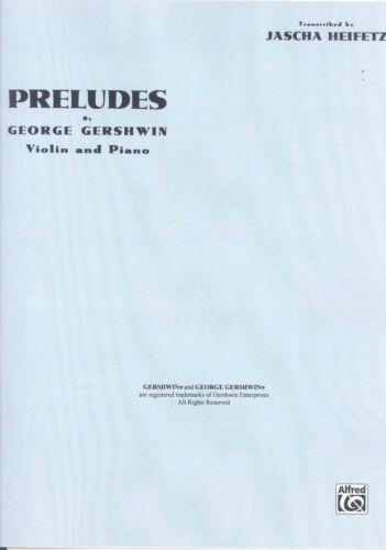 GERSHWIN PRELUDES Heifetz Violin /& Piano*