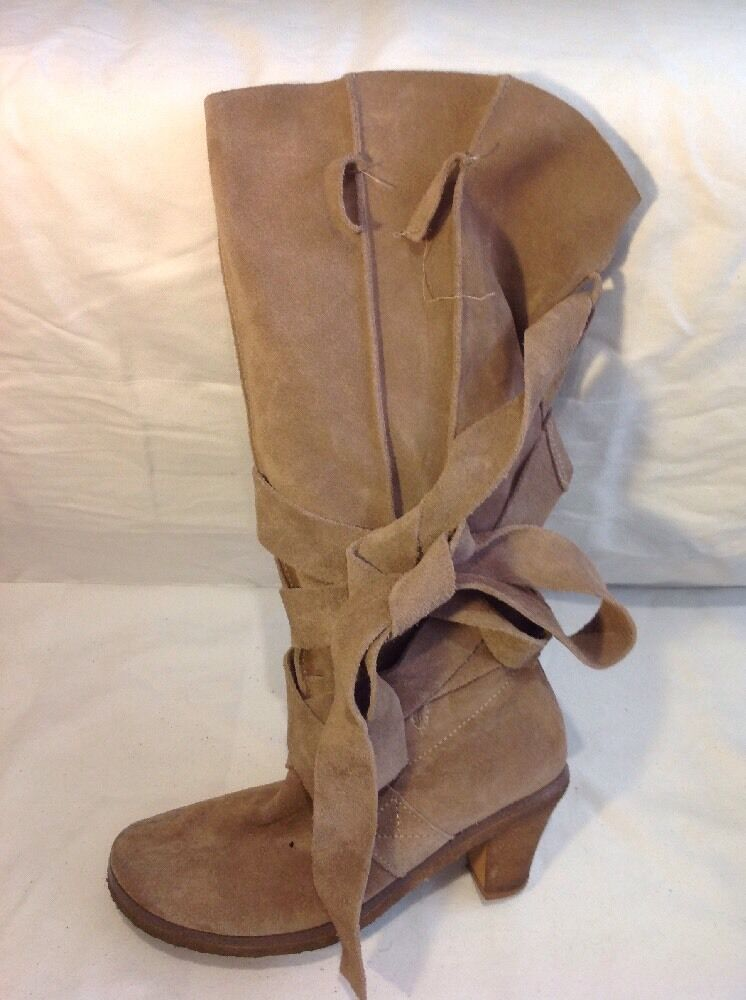 Dgoldthy Perkins Brown Knee High  Suede Boots Size 4