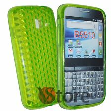 Cover Custodia Per SAMSUNG Galaxy Y Pro B5510 Gel TPU Verde Diamond + Pellicola