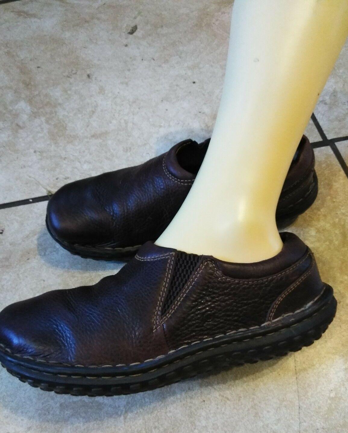 Né pour Femme en Cuir marron Slip On Casual MOC Confort Mocassins chaussures Taille 9.5 41