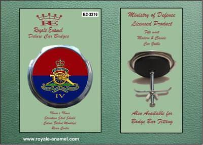 ROYAL ARTILLERY LEST WE FORGET B1 ROYALE ENAMEL ROYALE CAR SCOOTER BAR BADGE 3348