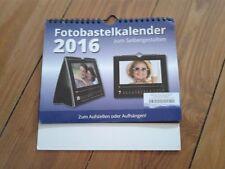foto-bastelkalender 2016 mit schwarzem passepartout neuwertig