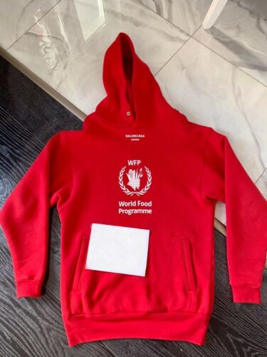 Balenciaga Hoodie WFP Red Oversized