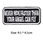 miniature 45 - Biker Patches Embroidered Iron on Sew on Word Slogans Patch Transfer Motorcycle