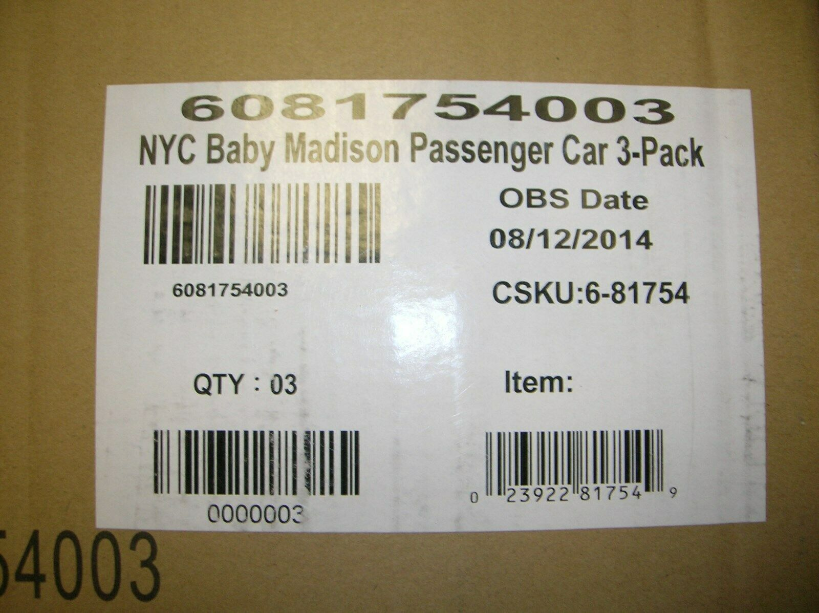 buscando agente de ventas Coche Lionel 81754 NYC Madison Paquete de 3-hacen que ofrece ofrece ofrece     comprar mejor