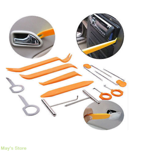 Universal Panel Removal Open Pry Tools Kit 12 pcs Car Dash Door Radio Trim Kit