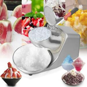 143lbs Electric Ice Crusher Shaver 300W Snow Cone Maker Shaved Ice 1450 Runs/Min