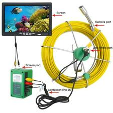 20m 7lcd 6w Led Pipe Inspection Video Camera Drain Pipe Sewer Inspection System
