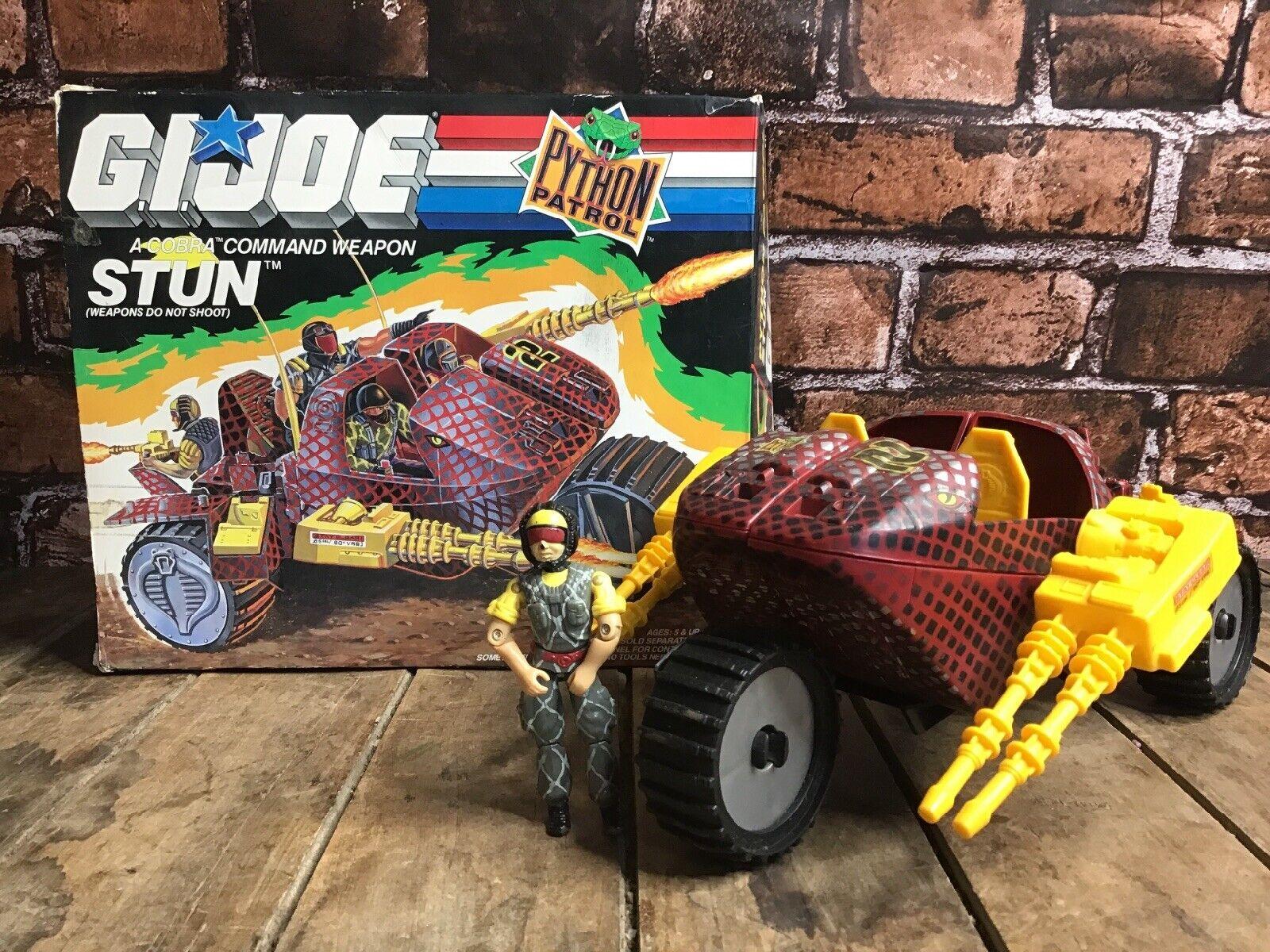 G.I. JOE - PYTHON PATROL STUN & PYTHON TELE-VIPER DRIVER - 1989 HASBRO BOX ARAH