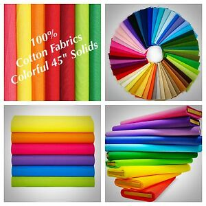 100-Cotton-fabric-Solid-Colors-45-034-Width-Quilting-Sewing-Tablecloths-Sold-BTY
