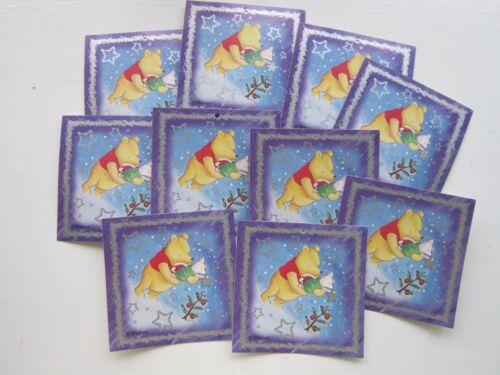 10 Winnie l/'Ourson Cadeau de Noël étiquettes NEUF