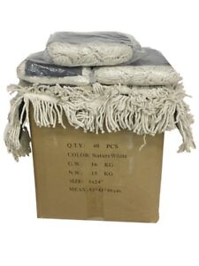 """5 Industrial 24/""""x5/"""" Dust Mop Pad Cotton Yarn Disposable Head Refill Replacement"""