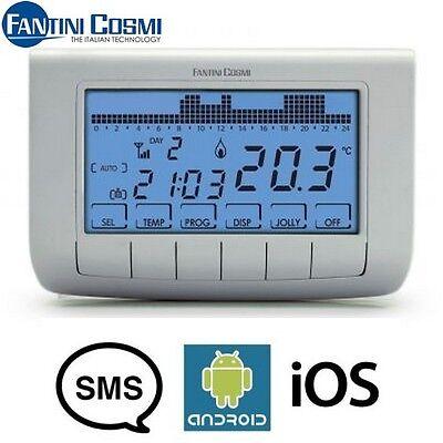 CH140 GSM CRONOTERMOSTATO SETTIMANALE COMANDO REMOTO SMS IOS E ANDROID FANTINI
