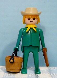 Vintage-Playmobil-1974-figuurtje-oud-old-figure-altes-Figur-cowboy-indiaan-farm