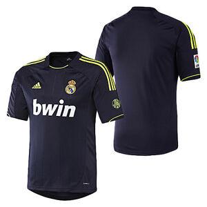 Detalles de Adidas Real Madrid 2012 2013 Away camiseta de fútbol Azul Marino Neon Nueva ver título original