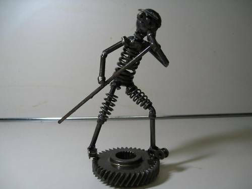 One of a Kind All Metal American Idol Got Talent Singing Figure