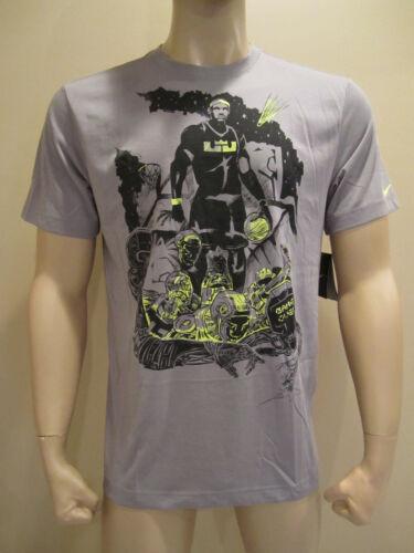 NIKE Men/'s Lebron James Game Over Gray Dri-Fit Cotton Shirt 522873 Basketball