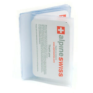 Alpine-Swiss-Plastic-Wallet-Inserts-6-page-SET-OF-2-Picture-Holder-Made-in-USA