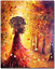 Colorful Autumn Paint By Numbers Kits DIY Number Canvas Painting Hand Tree Gold