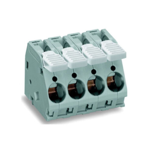 WAGO 2716-102 2 Pole 10mm 76A 30° Lever PCB Terminal Block Grey
