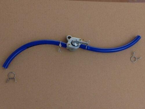 Neu Metall 6MM 1//4 Kraftstoff Benzin Hahn Blau Schlauch für Rasenmäher Motoren