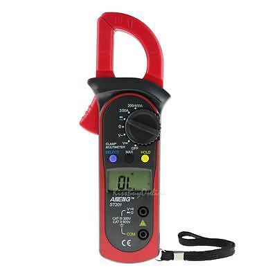 ST-201 Digital Auto Range Multimeter Tester DMM AC DC Current Volt Clamp Meter