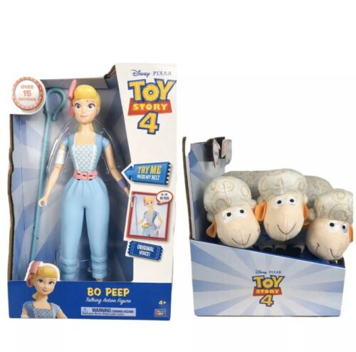 Toy Story 4 Bo Peep Talking Action Figure and Sheep Billy Goat Gruff Disney NIB