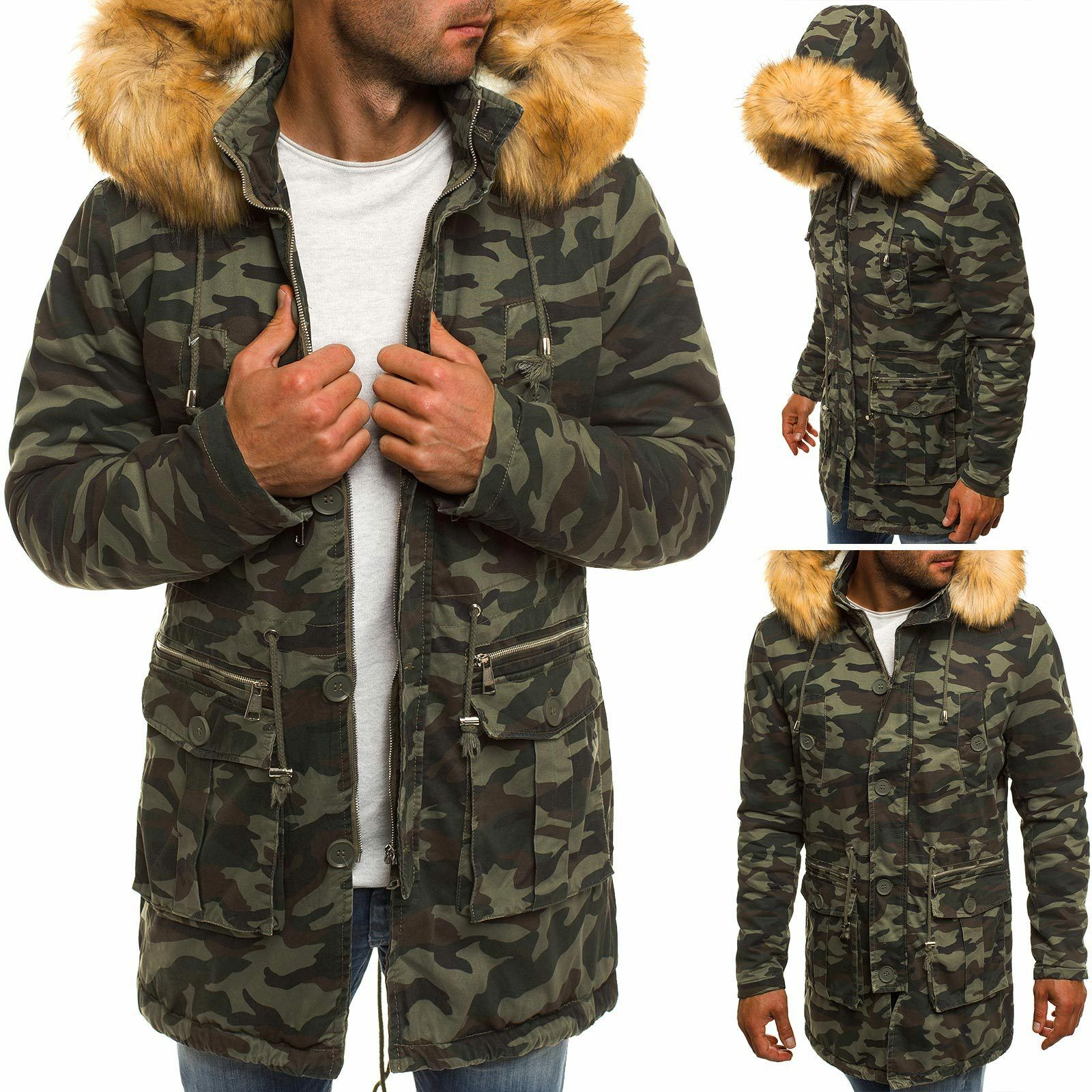 dd4ac056b5 OZONEE X-FEEL 88620 Uomo Giacca Invernale Parka Parka Parka Giacca ...