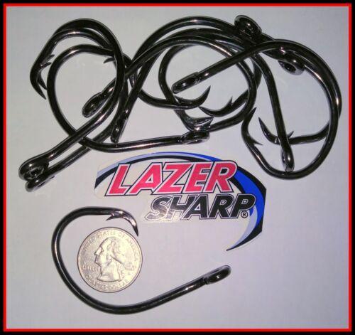 12//0-13//0 Eagle Claw Heavy Circle Hooks L2004 Lazer Shark Halibut Grouper Rigs