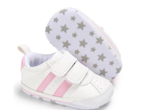 Newborn Baby Crib Chaussures Garçon Fille Baskets Toddler Prewalker First Baskets 0-18 M