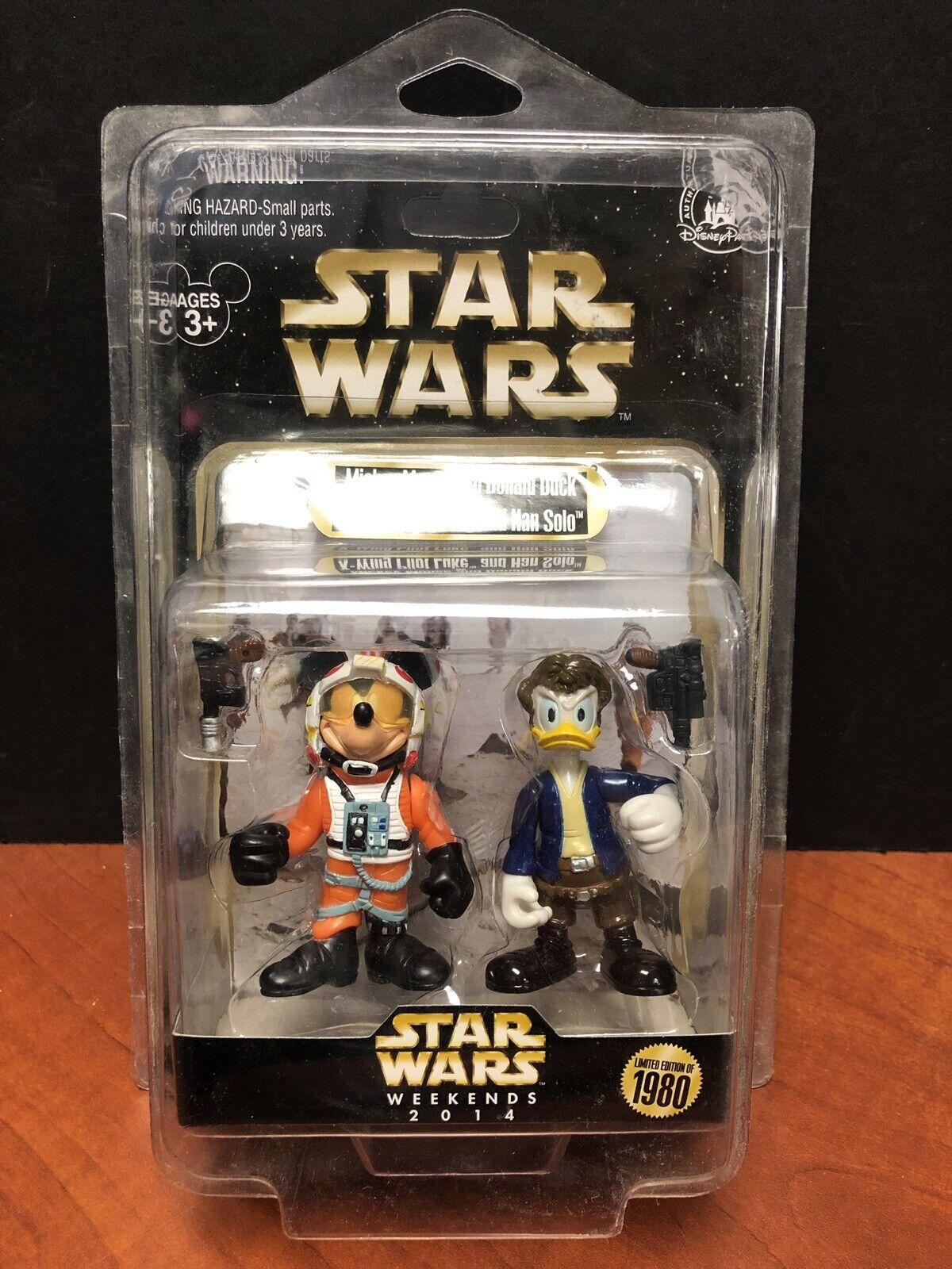 Star Wars 2014 Mickey Donald los fines de semana como Luke & Han Solo 0919 de 1980 EM2353
