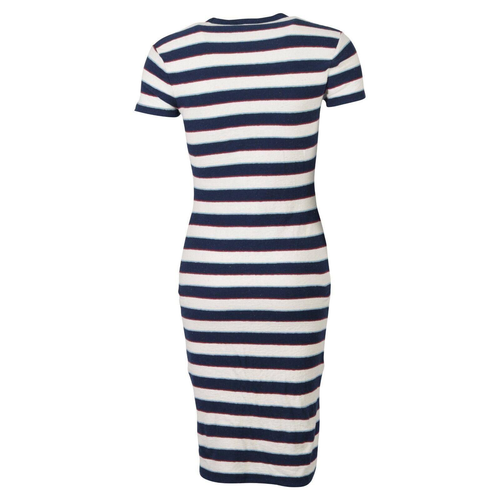 508c5617c04 S NEU69331 JAMES PERSE T-Shirt Kleid gestreift blue CREME BAUMWOLLE  BAUMWOLLE BAUMWOLLE GR. S NEU69331
