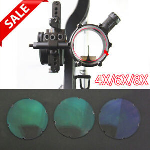 Compound-Bow-Sight-Lens-4x-6x-8x-Magnifying-Glass-Archery-Clarifiers-4-5cm-2mm
