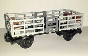 LEGO Train Carriage Custom Open Multi Use Goods Wagon Railway Truck For 60198